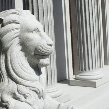 Blue Gray Hudson Lion
