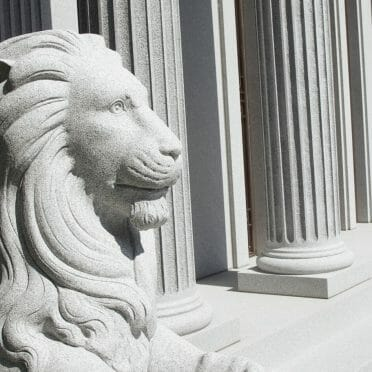 Lions in front of a Mausoleum