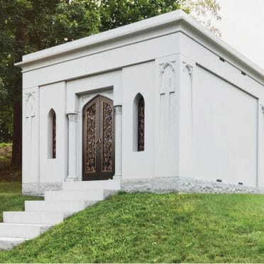 Blue gray Mausoleum