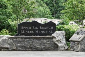 Upper Big Branch Miners Memorial close-up