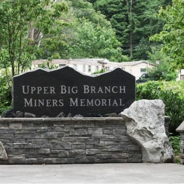 Upper Big Branch Miners Memorial close-up