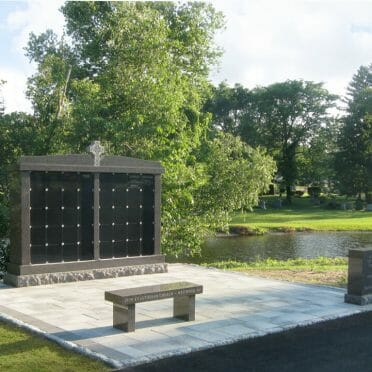 Canadian Mahogany & Starlight Black Columbarium