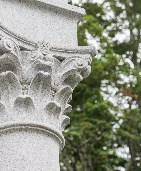 Mausoleum column detail