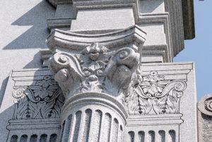 Wakefield War Memorial - Carving