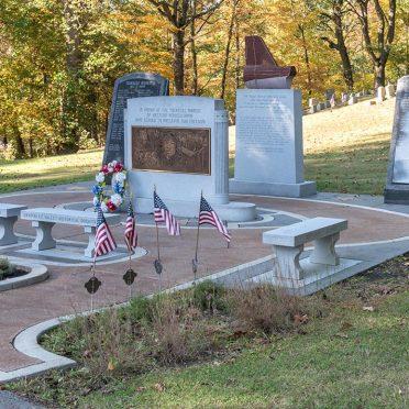 Rock of Ages Tuskegee Aviation Civic Memorial | Sewickley Cemetery, Western PA | Blue Gray granite & Crimson Red granite